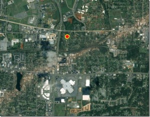 GeoEye Track of Tornado through Central Tuscaloosa 27 April 2011